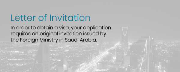 In order to obtain a visa to Saudi Arabia for work, you will also need a letter of invitation